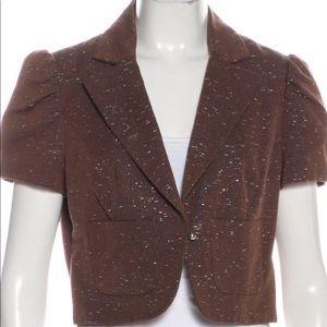 Carolina Herrera Metallic Jacket